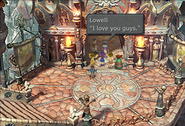 Lowell Bridges and his fans from FFIX Remastered