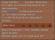 Combat King 003 Meteor Barret from FFVIII Remastered