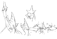 Pist's gun firing concept sketch for Final Fantasy Unlimited