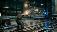 Barrets normal attack from FFVII Remake