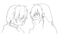 Kaze profile sketch for Final Fantasy Unlimited
