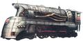 Muka train artwork for Final Fantasy VII Remake