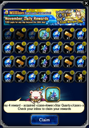 FFBE November 2016 Daily Rewards (Global)
