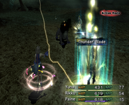 FFX-2 Thunder Blade Activated