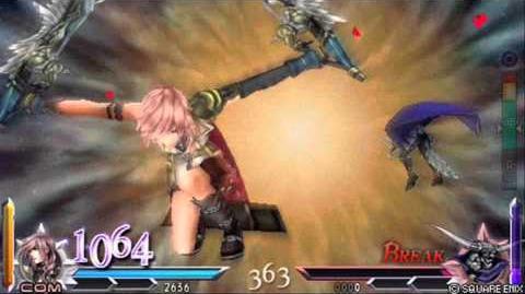 Dissidia 012 Duodecim Final Fantasy - Lightning's EX Burst Gestalt Drive (English)