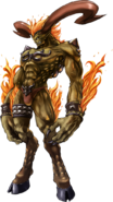 Ifrit from Crisis Core FFVII artwork