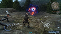 Prompto uses Gravisphere during training from FFXV
