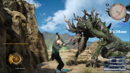 Prompto character-swap against tyraneant from FFXV