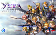 DFFOO Title Screen 1.12.0