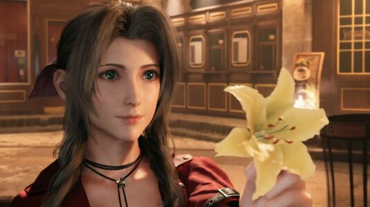 FF7 Remake Aerith Offers A Flower