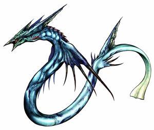 Arte de Leviathan em Final Fantasy VIII.