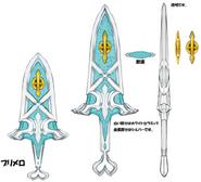 Knife concept art for World of Final Fantasy