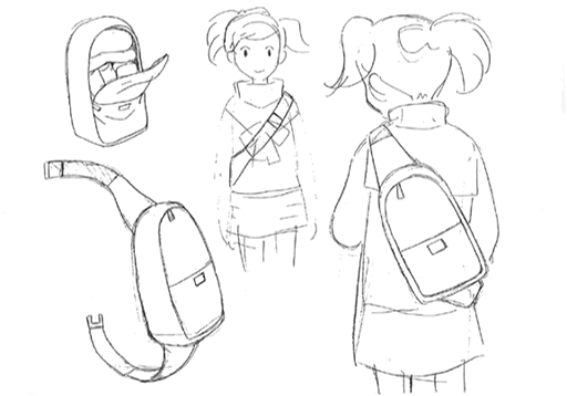 Ai's backpack sketch for Final Fantasy Unlimited.png