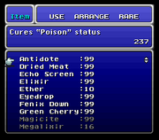 FFVI SNES Item Menu 1