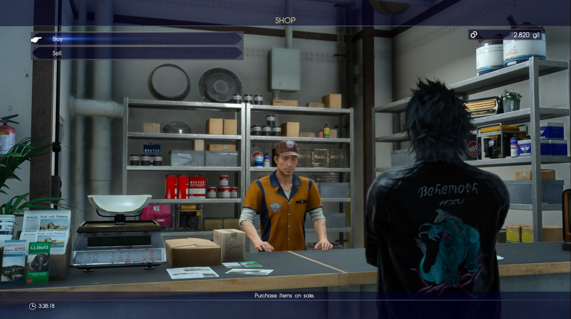 Final Fantasy XV shops