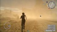Adamantoise in dust storm in FFXV