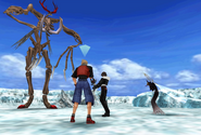 Abadon stands up from FFVIII Remastered