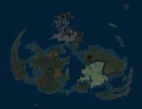 Зона выделена на карте мира.