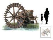 Ronfaure Waterwheel FFXI Art