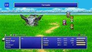 Tellah using Tornado from FFIV Pixel Remaster