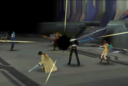 Fujin uses Meteor from FFVIII Remastered