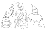 Fungus concept lines for Final Fantasy Unlimited
