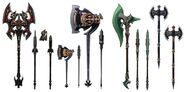 Marauder Weapons FFXIV Art