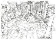 Lindblum Castle Throne Room FF9 Art