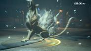 Coeurl uses blaster in FFXV