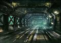 Corkscrew Tunnel artwork 2 for Final Fantasy VII Remake
