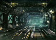 Corkscrew Tunnel artwork 2 for Final Fantasy VII Remake