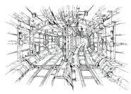 Midgar Rail System FF7 Art