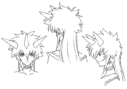 Kiri head angle sketches for Final Fantasy Unlimited