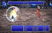 Amon using Barrier Shift from FFIII Pixel Remaster