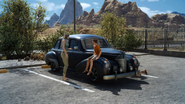 NPCs and car at Hammerhead in FFXV