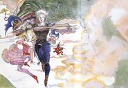 Final Fantasy V OVA Amano Promo Pin-up