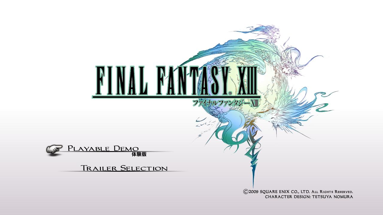 Final Fantasy XIII demo