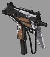 Jessies submachine gun artwork for FFVII Remake