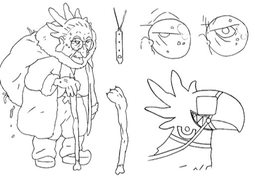 Chocobaba sketches 2 for Final Fantasy Unlimited.png