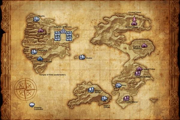 Карта the restored surface world