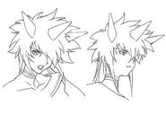 Kiri emote sketches for Final Fantasy Unlimited