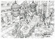 Lindblum Castle Conference Room FF9 Art