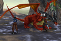 Ruby Dragon physical attack from FFVIII Remastered