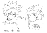 Kumo face features sketch for Final Fantasy Unlimited