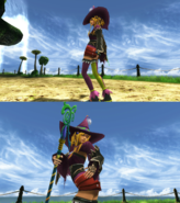 Rikku Black Mage Victory Pose