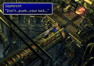 Sephiroth impales cloud