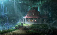 Aerith's House exterior artwork for Final Fantasy VII Remake