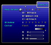 FFVI SNES Config Menu 2