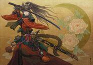 FFXIV Miqo'te Samurai Illustration