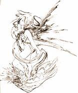 Lightning crystal artwork